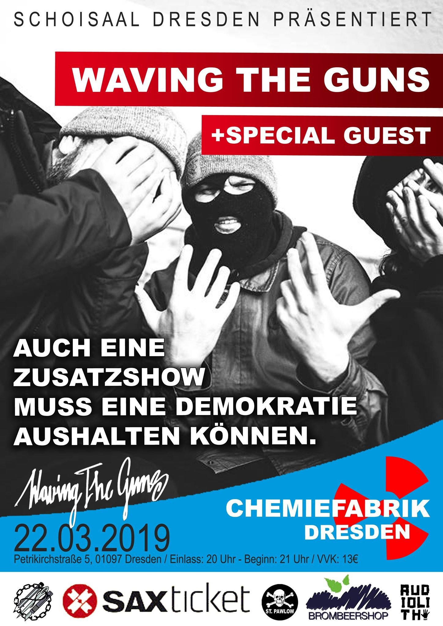 Waving the Guns + special guests