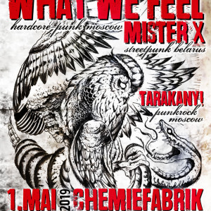 What We Feel + Special Guests: MisterX, Tarakany! / Dresden, Chemiefabrik